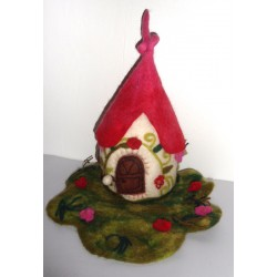 Felt Fairy Red House