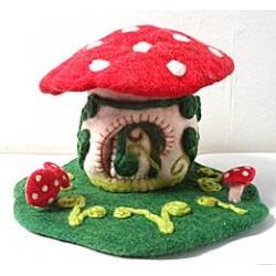 Felt Toadstool House