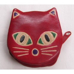 Gringo Leather Red Cat Coin...