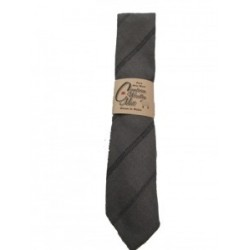 Cambrian Grey Stripe Wool Tie