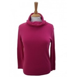 Poppy Cowl Neck Cerise Top
