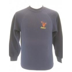 Exmoor Stag Navy Sweatshirt