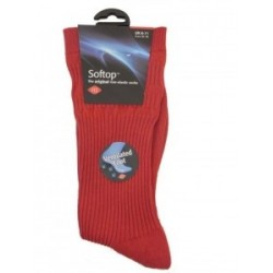 HJ Hall Cotton Red Softop Sock