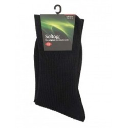 HJ Hall Wool Black Softop Sock