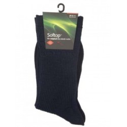 HJ Hall Wool Navy Softop Sock