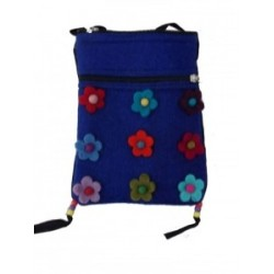 Gringo Felt Flower Blue Bag