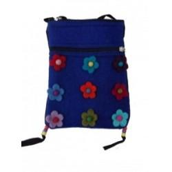 Gringo Felt Flower Blue Bag