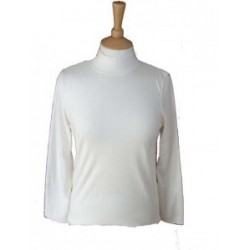 Poppy Turtle Neck Cream Top