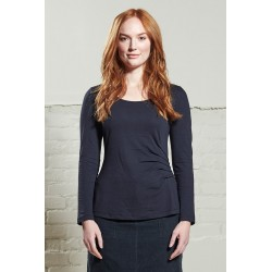 Nomads Ruched Pewter Top