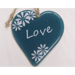"Handcrafted Glass ""Love""..."