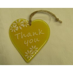 "Handcrafted Glass ""Thank..."