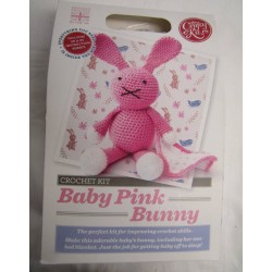 Baby Pink Bunny Crochet Kit
