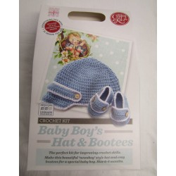 Baby Boy's Hat & Bootees...