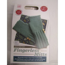 Fingerless Mitts Crochet Kit