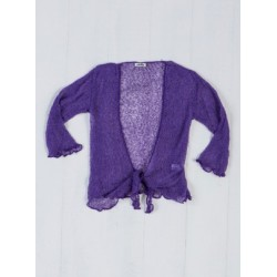 Gringo Loose Knit Purple Shrug