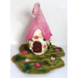 Felt Fairy Pink House