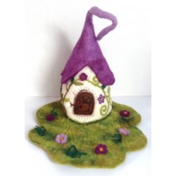 Felt Fairy Purple House